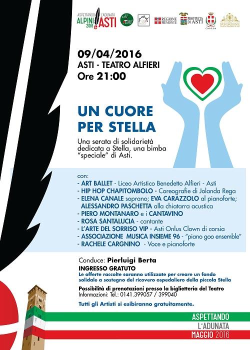 """""""Un cuore per Stella"""": serata di solidarietà al Teatro Alfieri"""