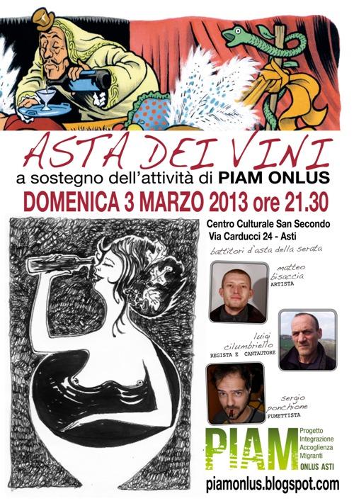Ad Asti torna l'asta dei vini in favore del Piam