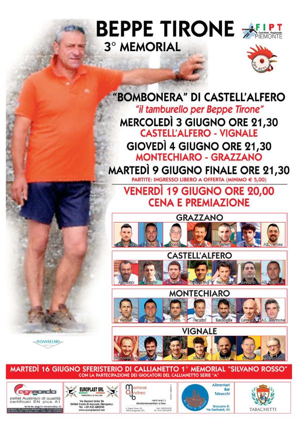 3° Memorial di  Tamburello dedicato a Beppe Tirone