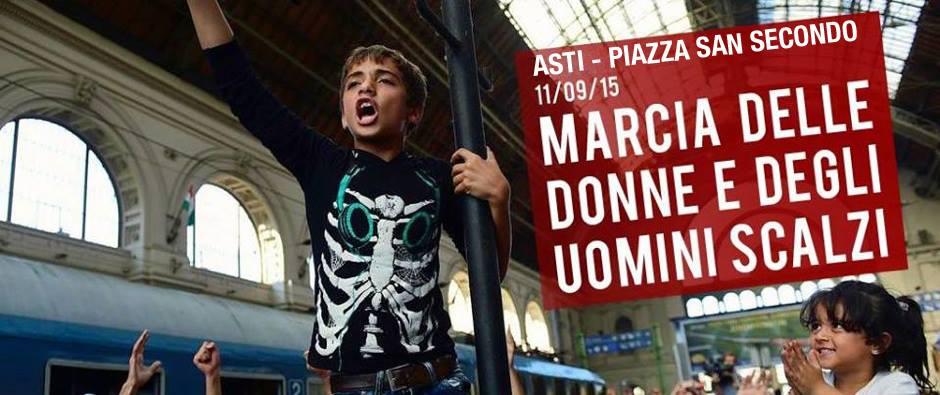 La marcia delle donne e degli uomini scalzi ad Asti