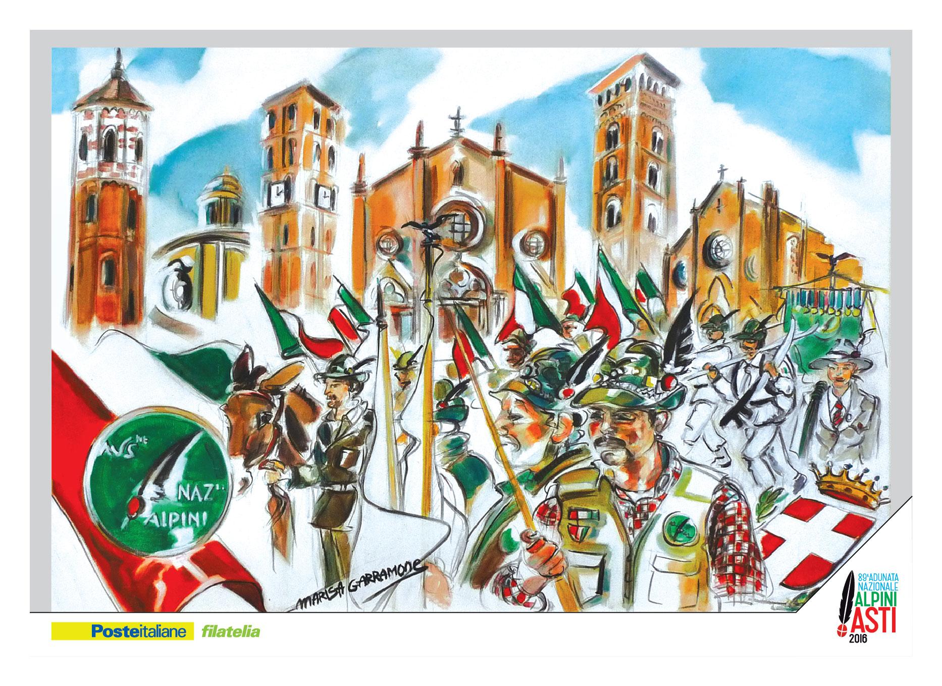 Pronti 5mila cofanetti con le cartoline dell'Adunata 2016