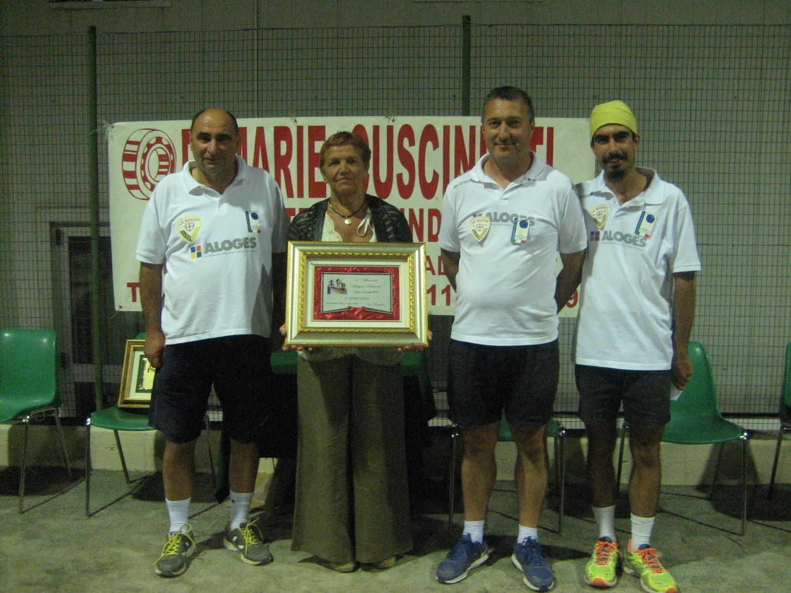 4° Memorial Luigi Demarie di bocce a Mario Boero, Flavio Gioda e Gabriele Parena