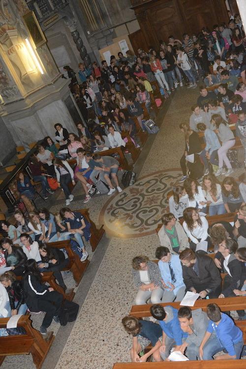 Il vescovo a San Martino per la messa degli studenti