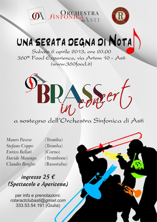 """Ad Asti """"una serata degna di nota"""" con gli Osa Brass"""