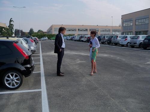 Realizzato il parcheggio vicino alla Comdata