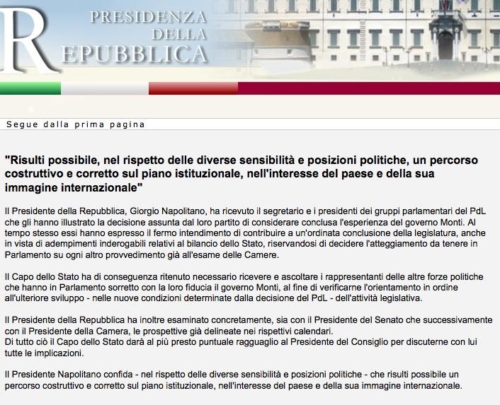 Le dimissioni di Monti: a rischio decreto sull'accorpamento delle province