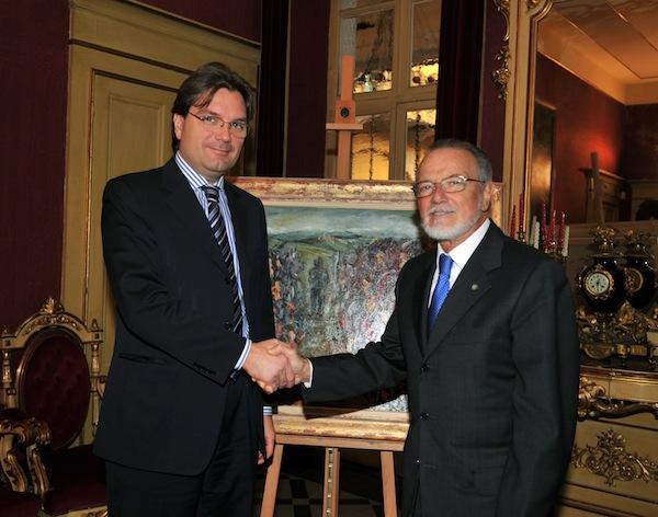 Primo incontro fra il sindaco di Asti Brignolo e il commissario della Provincia Ardia