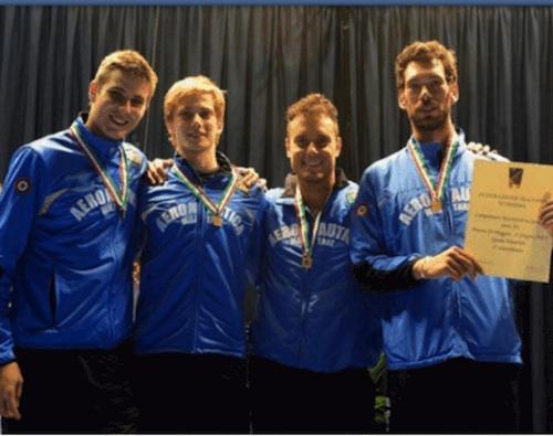 Scherma: Andrea Pucciariello bronzo a squadre con l'Aeronautica Militare