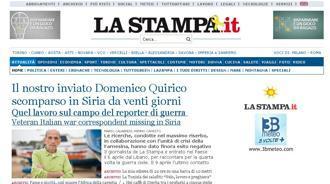 """Lo """"Yellow Ribbon"""" sul sito de La Stampa per Domenico Quirico"""