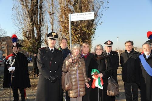 Piazza d'Armi intitolata al carabiniere Cosma Manera: la fotogallery