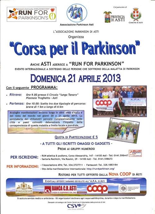 Ad Asti si corre per il Parkinson