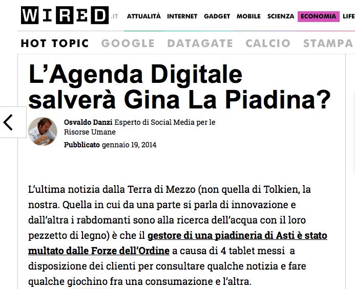 """Lo strano caso di """"Gina La Piadina"""" su Wired"""