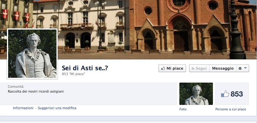 """Su Facebook """"Sei di Asti se…"""""""