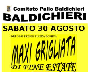 Maxi grigliata di fine estate sabato a Baldichieri