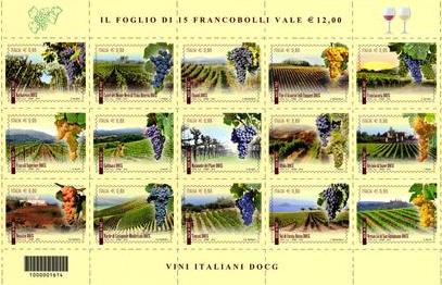 Il Ruché di Castagnole Monferrato ha un francobollo dedicato
