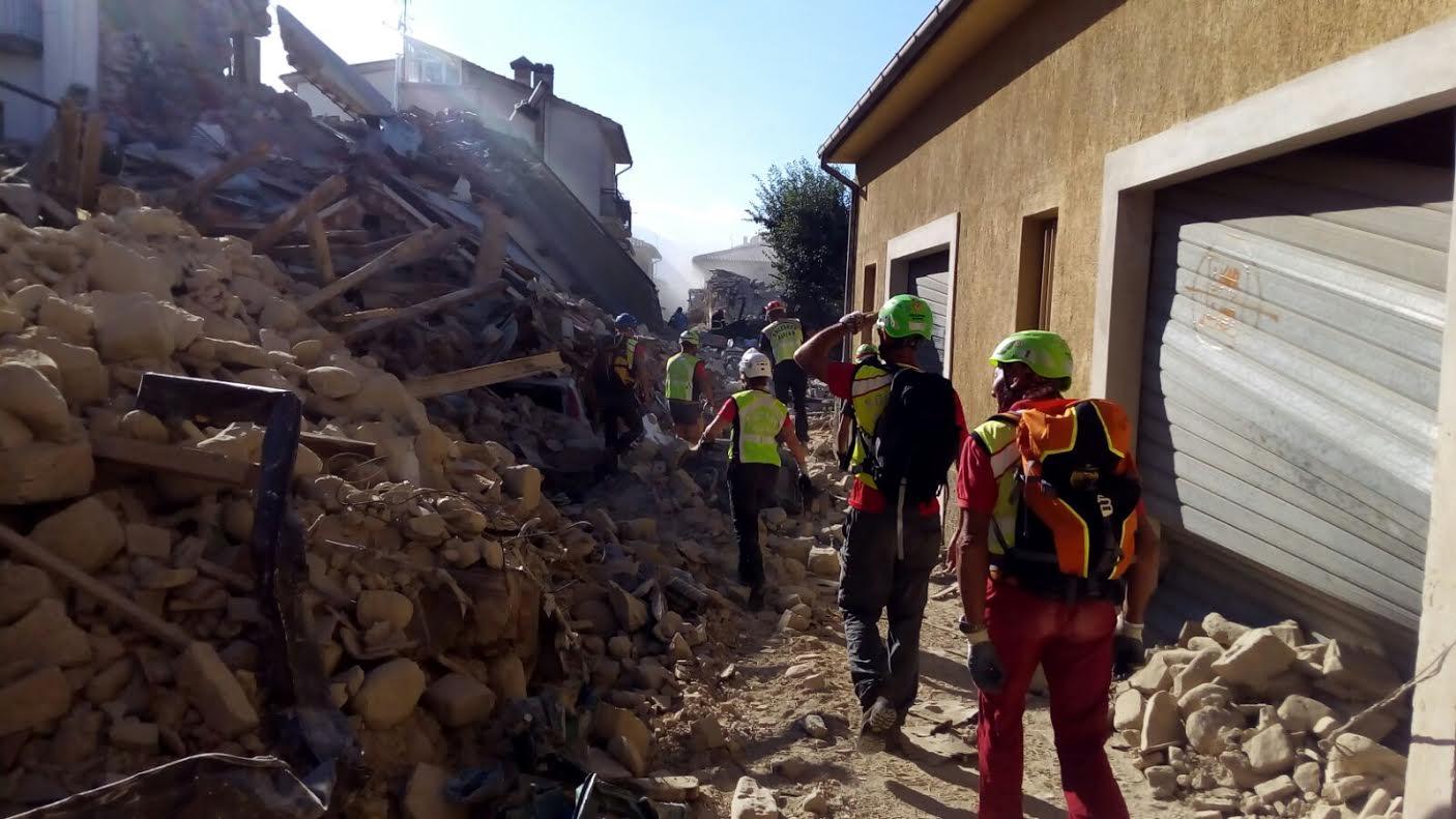 Sisma Italia centrale: settore sismico e Arpa Piemonte sui luoghi del terremoto