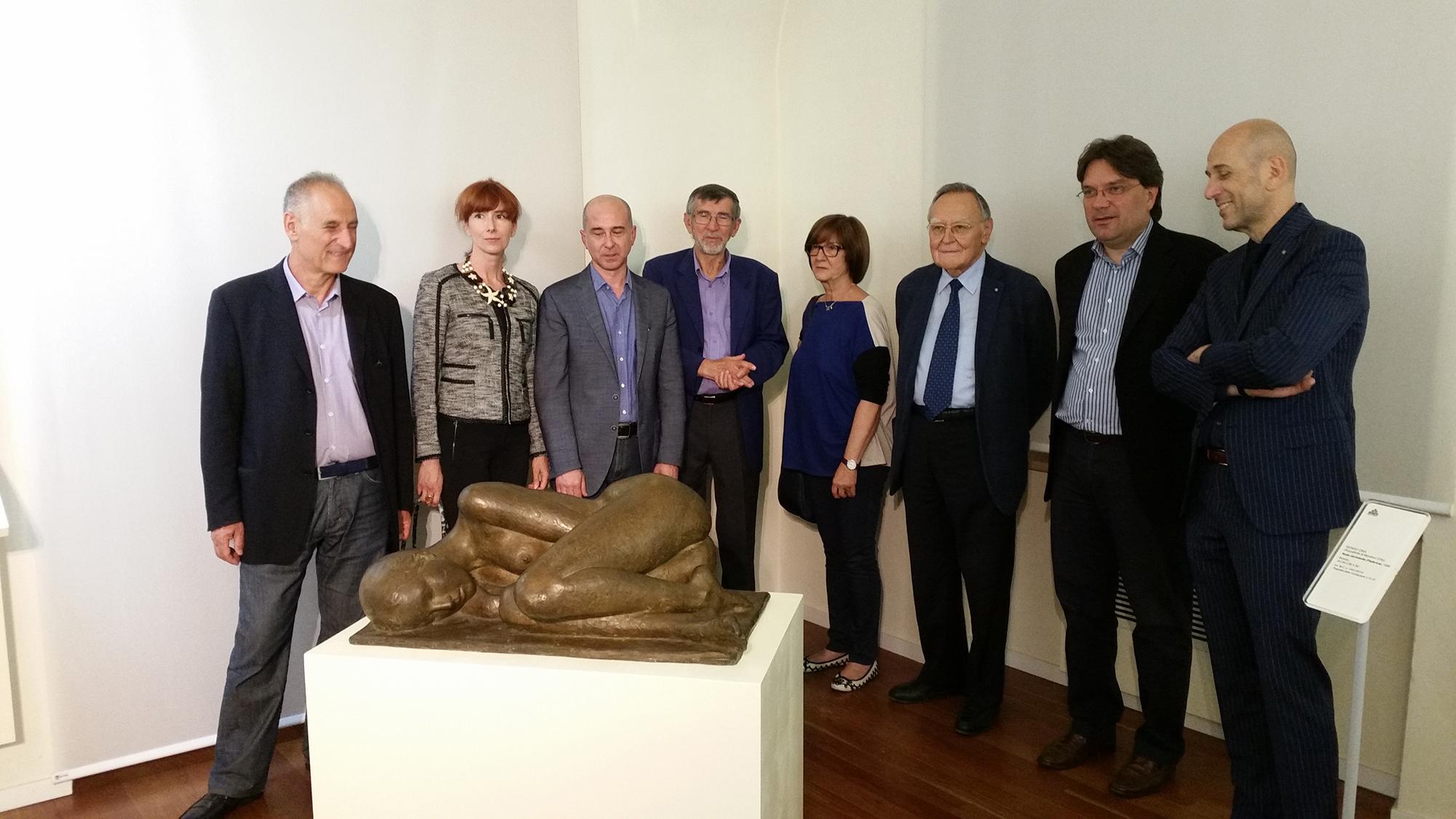 Presentazione dell'opera dello scultore e Maestro del Palio Sergio Unia