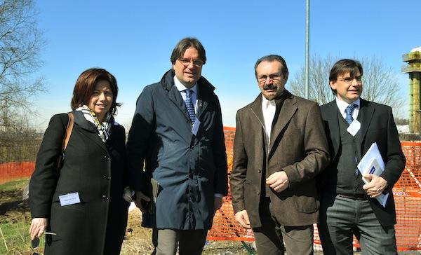 Brignolo visita il cantiere per il nuovo impianto di trattamento del vetro