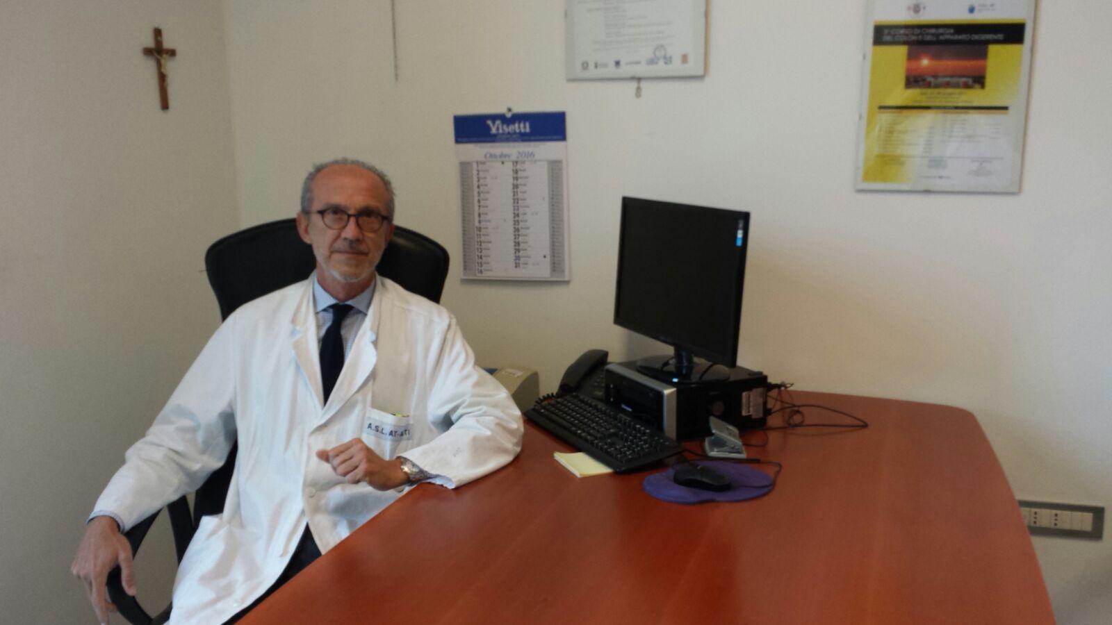 Vincenzo Sorisio è nuovo direttore della Struttura di Chirurgia dell'Asl AT