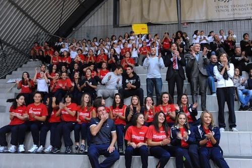 Il sindaco Brignolo porta fortuna alle ragazze dell'Asti Volley