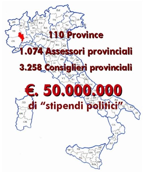"""MoVimento5stelle Asti: """"Basta con le poltrone e con le Province"""""""