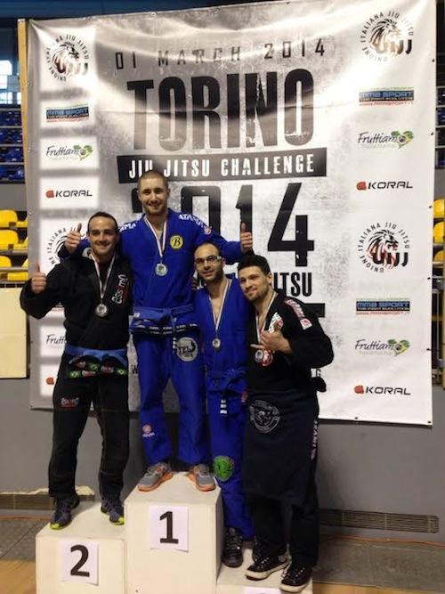 Alberto Buriasco medaglia d'oro nel Brasilian Jiu Jitsu