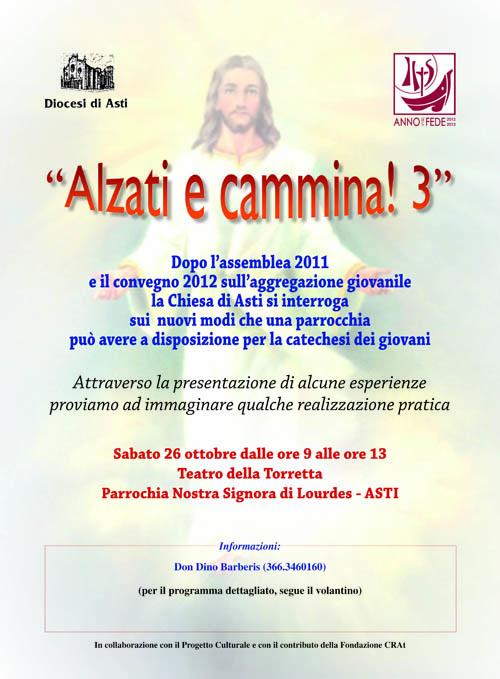 """""""Alzati e cammina"""": sabato 26 ottobre la terza tappa del convegno diocesano"""