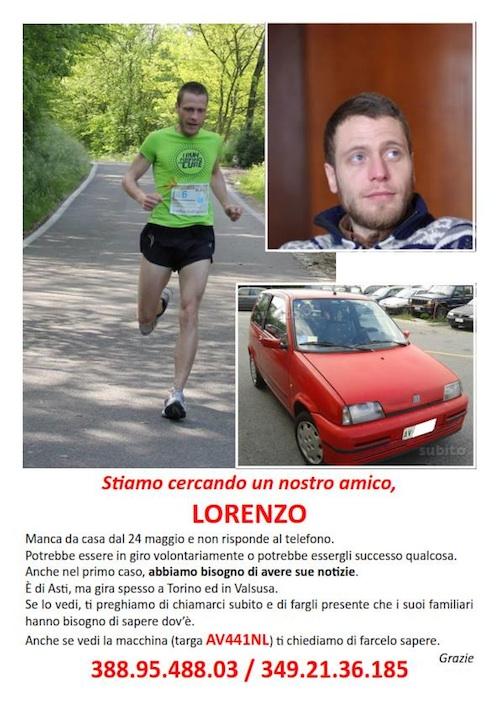 Nuovo appello per trovare Lorenzo Benigni