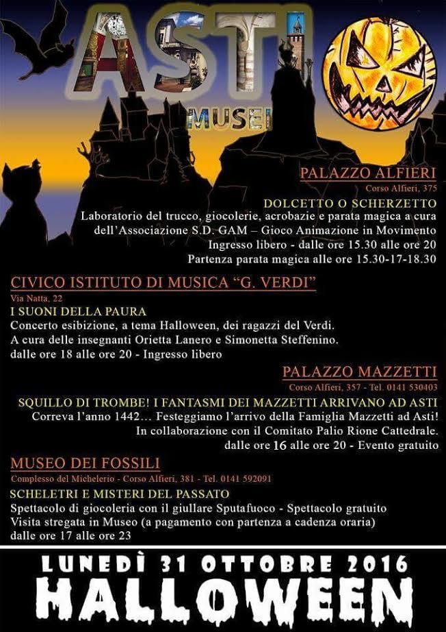 Notte di Halloween nei museidi Asti
