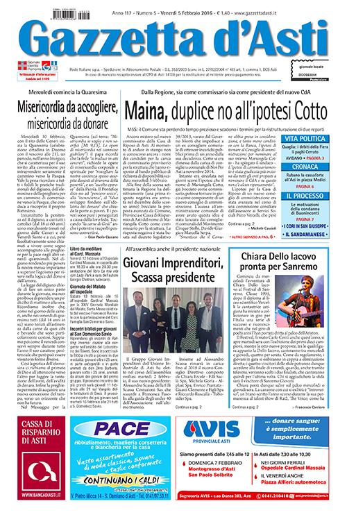 Prima pagina – 5 febbraio 2016