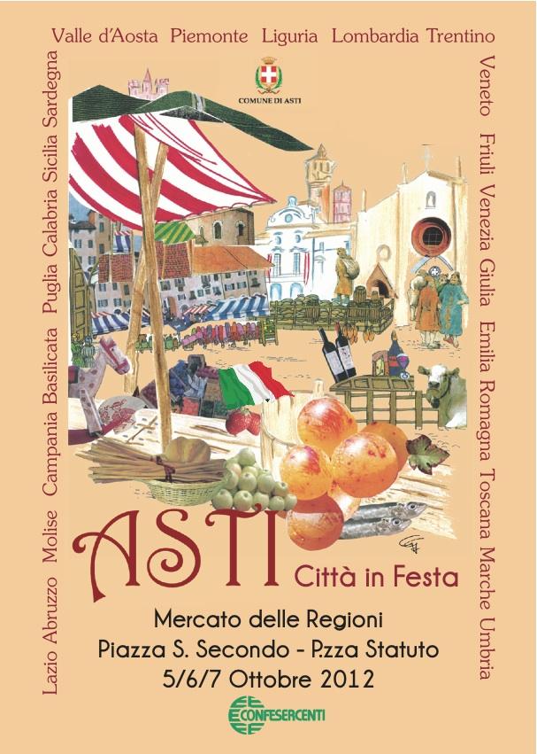 Mercato delle regioni ad Asti