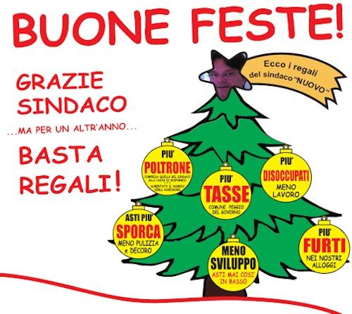 """Gli amari auguri di Natale di Galvagno: """"Asti, mai così in basso. Perché?"""""""