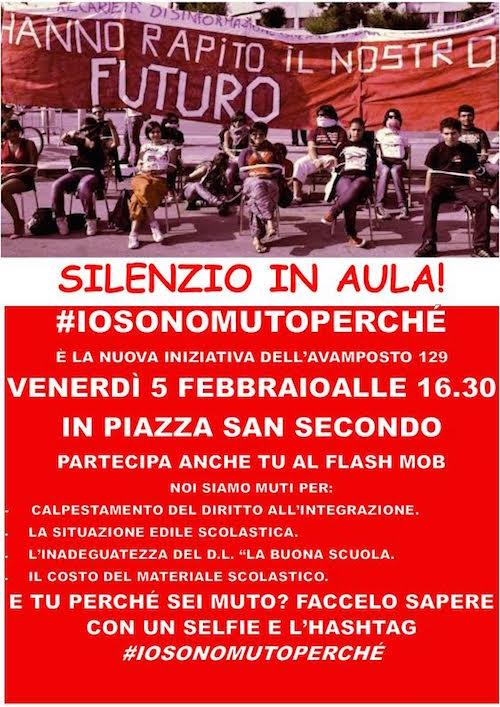 """Ad Asti sit in e flash mob per dire no alla """"Buona Scuola"""""""