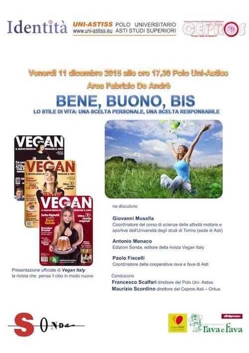All'università di Asti un convegno sul cibo sano in corpo sano