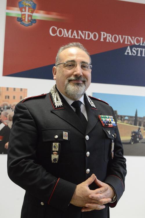 """Vagnoni, nuovo comandante dell'Arma astigiana: """"Massima attenzione ai furti"""""""