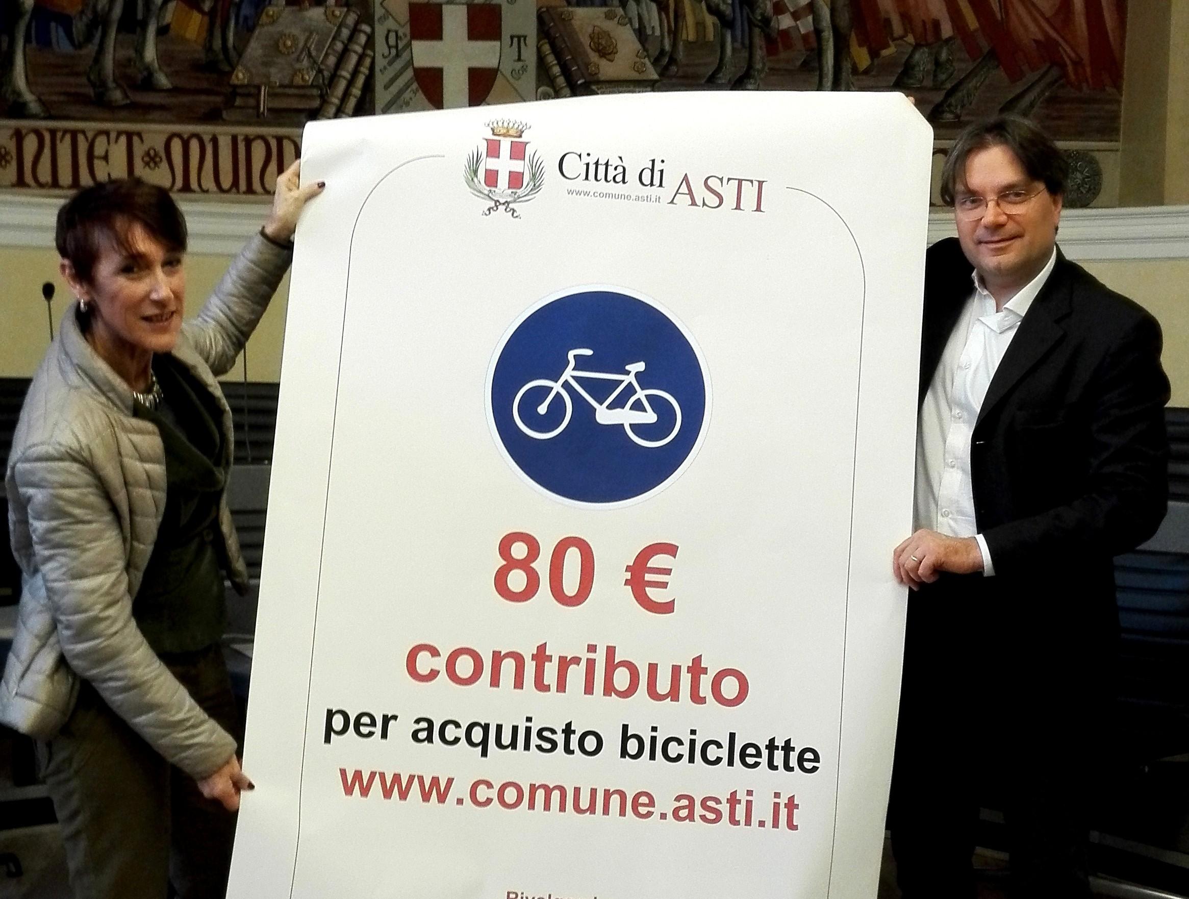 Asti, dal Comune 80 euro a chi acquista una bicicletta