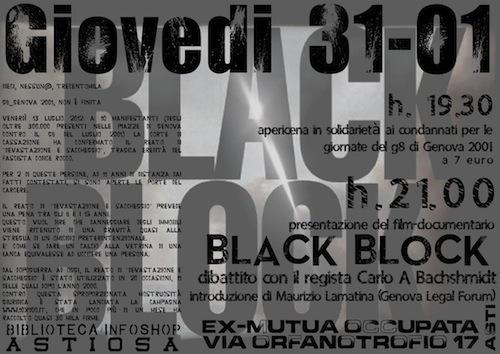 Alla mutua occupata Black/Block un docufilm sul G8 di Genova