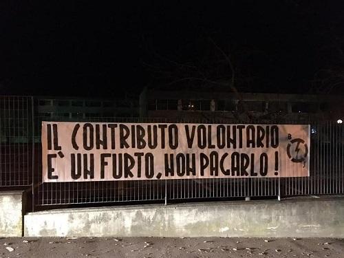 Ad Asti azione del Blocco Studentesco contro il contributo volontario
