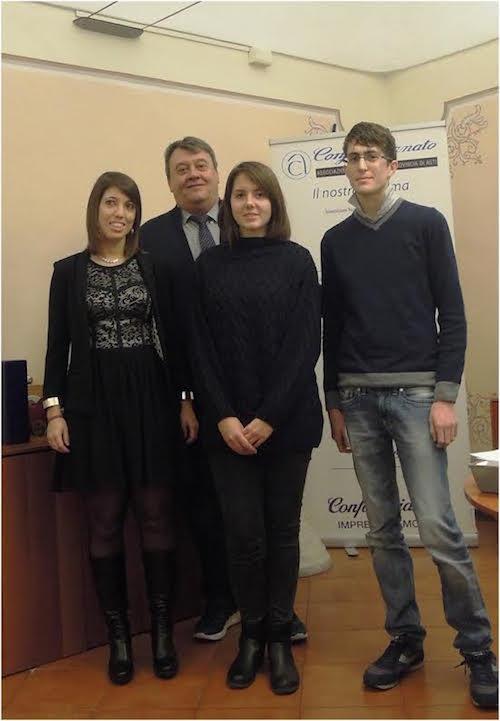 Cosegnate a tre giovani studenti le borse di studio di Confartigianato Asti