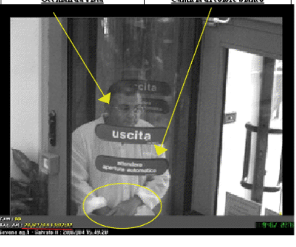 Rapinatore incastrato dalle telecamere di sicurezza della Crat