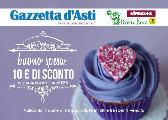 Gazzetta d'Asti regala un buono sconto nella Cooperativa Rava e Fava