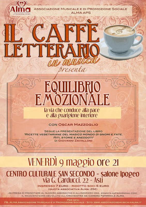 L'equilibrio emozionale protagonista del prossimo Caffé Letterario dell'Alma