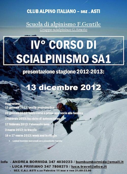 Alle battute finali il corso di alpinismo del Cai di Asti