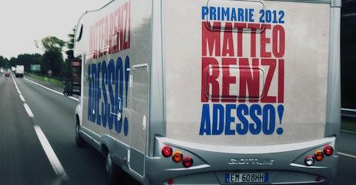 Matteo Renzi, candidato alle primarie del centro sinistra, ad Asti lunedì 22 ottobre