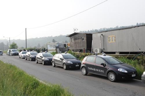Asti, perquisizione interforze nei campi nomadi