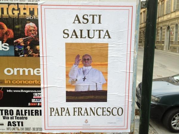 """Asti saluta papa Francesco"""