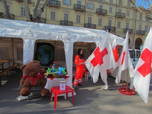 Anche la Croce Rossa in piazza per il carnevale astigiano