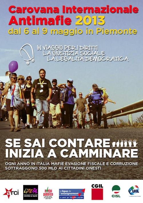 Ad Asti la Carovana Internazionale Antimafie
