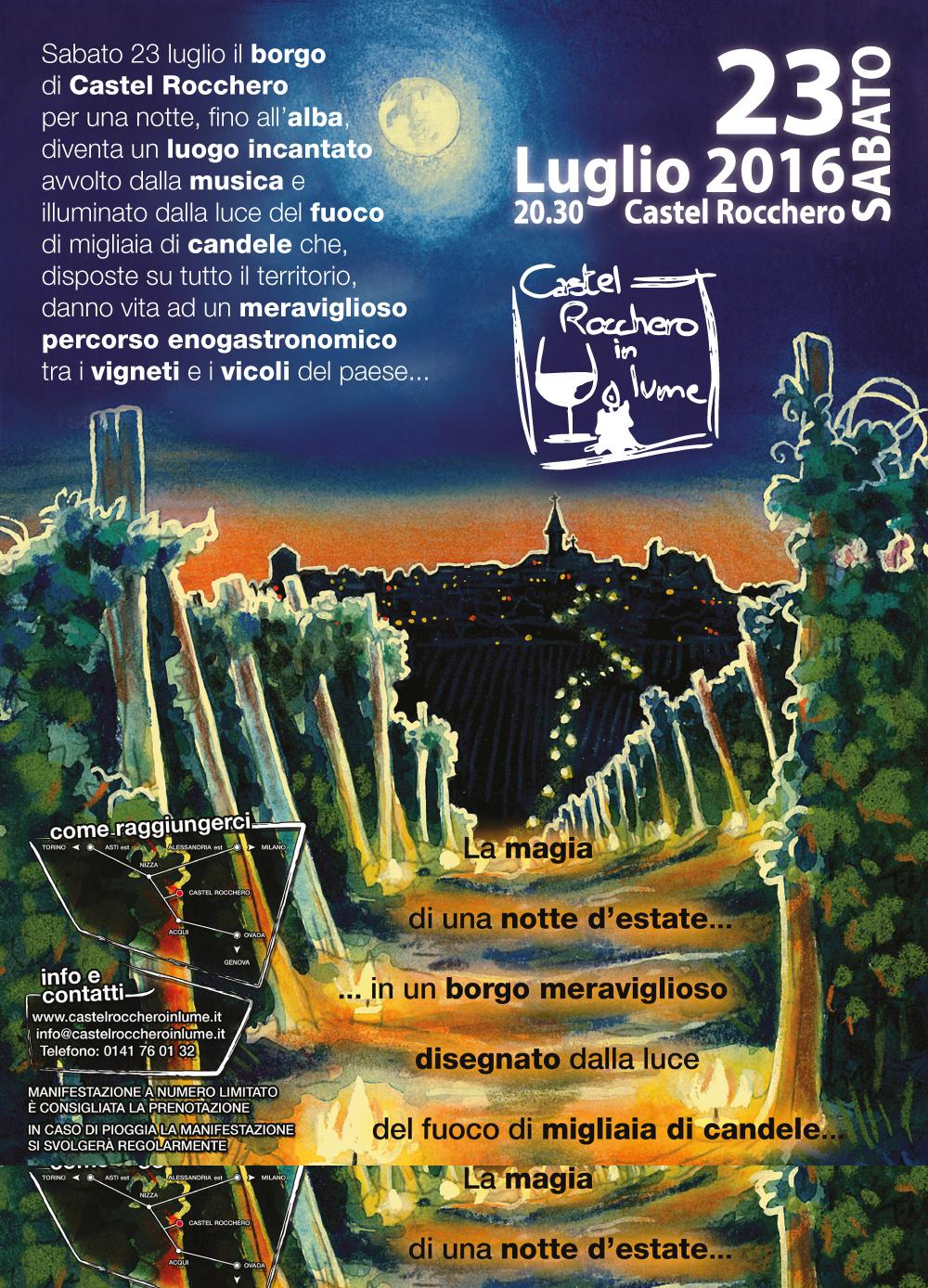 Castel Rocchero in Lume: la suggestiva passeggiata dal tramonto all'alba tra i vigneti e il borgo