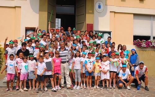 Il centro estivo di Isola d'Asti in festa